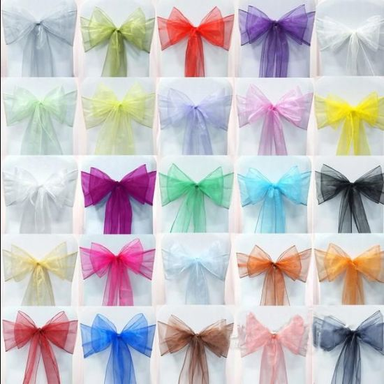 Snow Sheer Tie /  Bows Glitter White